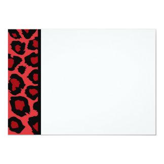 Red Leopard Print Panel Invitation