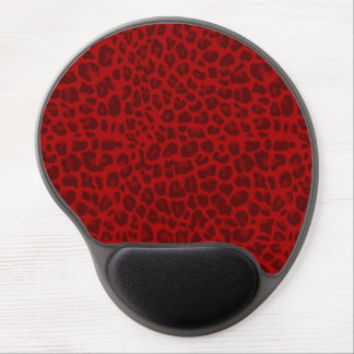 Red leopard print pattern gel mouse pad