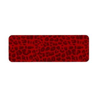 Red leopard print pattern label