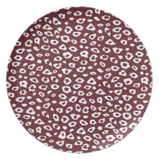 Red Leopard Print Plates