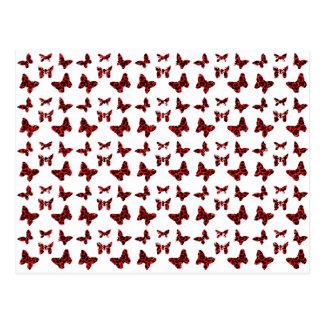 Red Leopard Spots Butterfly Pattern Postcard