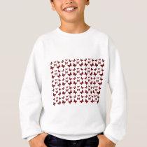 Red Leopard Spots Butterfly Pattern Sweatshirt