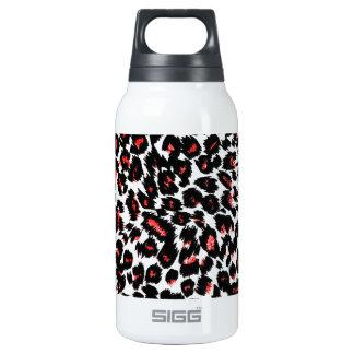 Red Leopard Spots Pattern Insulated Water Bottle