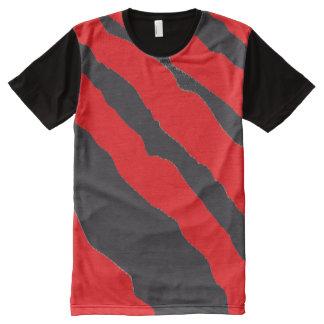 Red Leopard / Tiger Print Shirt