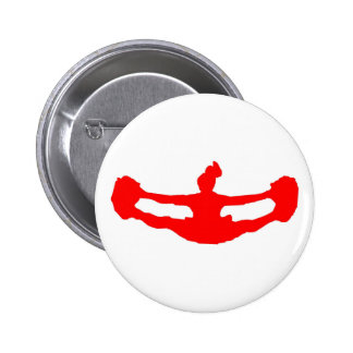 Red LET s CHEER Button