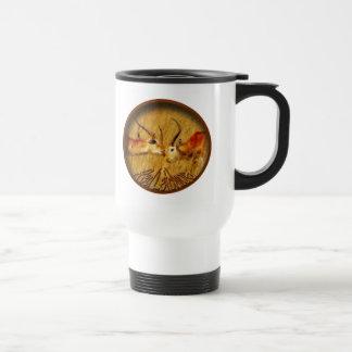 Red Letchwe fighting, wildlife safari mugs & cups