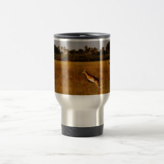 Red Letchwe jumping wildlife mugs & cups