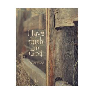Christian quotes wood wall art zazzle for Faith decor