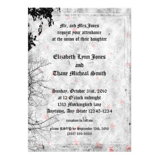 Red Letter Day Goth Wedding Invitation