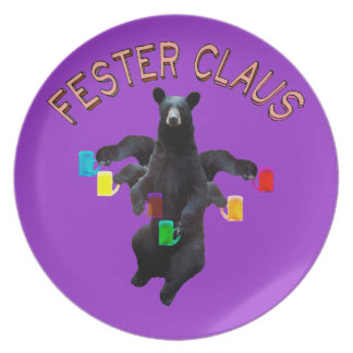 Red Letter Edition Not Froze Fester Claus Melamine Plate
