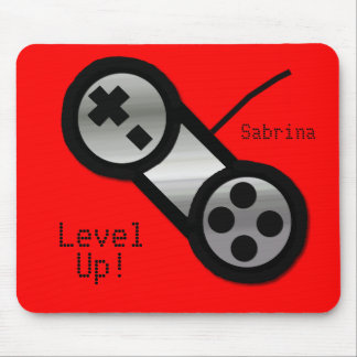 Red Level Up Mouse Pad