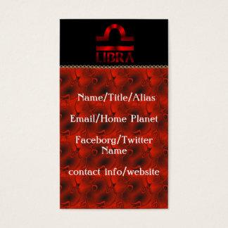 Red Libra Horoscope Symbol Business Card
