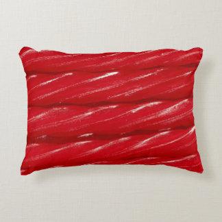 Red Licorice Decorative Pillow