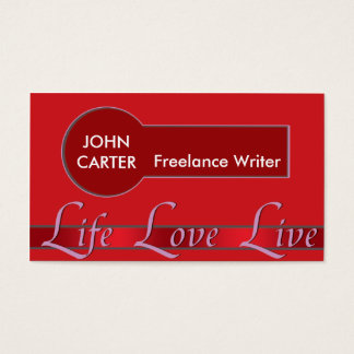 Red Life Style Business Card