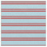[ Thumbnail: Red & Light Blue Colored Striped/Lined Pattern Fabric ]