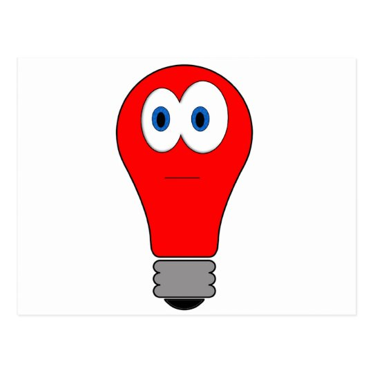 Red Light Bulb Postcard