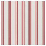 [ Thumbnail: Red & Light Cyan Lined Pattern Fabric ]