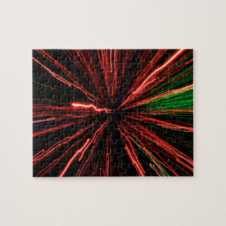 Red light display, colored laser, Infinity light Jigsaw Puzzle