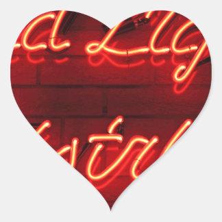 Red Light District Heart Sticker