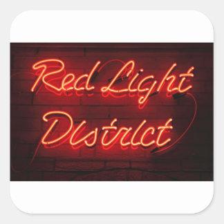 Red Light District Square Sticker