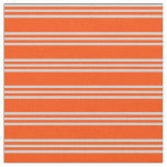 [ Thumbnail: Red & Light Gray Stripes Pattern Fabric ]
