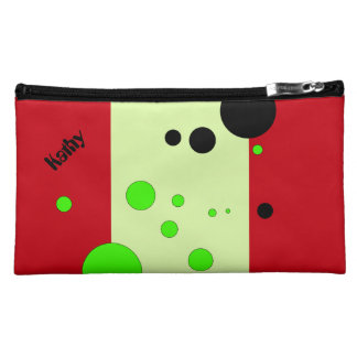 Red-light green bubbles cosmetic bag