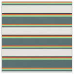[ Thumbnail: Red, Light Green, Gray, Mint Cream & Black Fabric ]