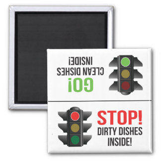 Red Light Green Light Dishwasher Magnet