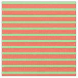[ Thumbnail: Red & Light Green Pattern Fabric ]