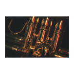 Red Light Jazz Stretched Canvas Print