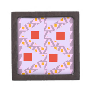 red light orchid violet orange mixed triangles premium jewelry boxes