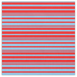 [ Thumbnail: Red & Light Sky Blue Lines Fabric ]