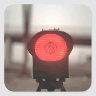 Red light square sticker
