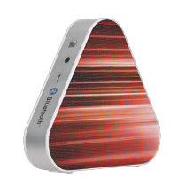 Red light streaks pattern bluetooth speaker
