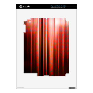 Red light streaks pattern decal for iPad 2