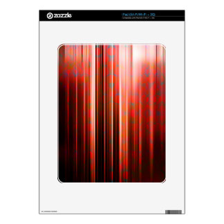 Red light streaks pattern decals for the iPad