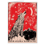 REd LIght Therapy Christmas Greeting Cards