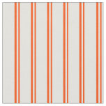 [ Thumbnail: Red & Light Yellow Colored Stripes Fabric ]