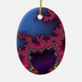 Red Lightening Ceramic Ornament