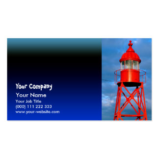 Red lighthouse business card