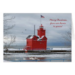 Red Lighthouse Christmas Cards