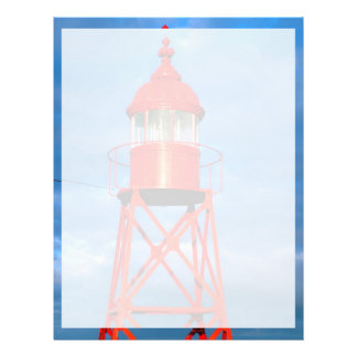 Red lighthouse personalized flyer
