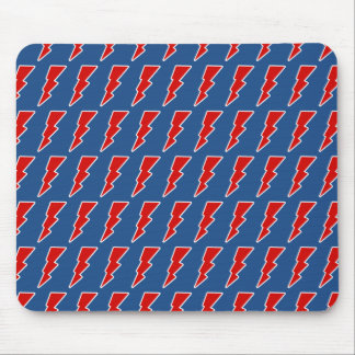 red lightning bolt mouse pad