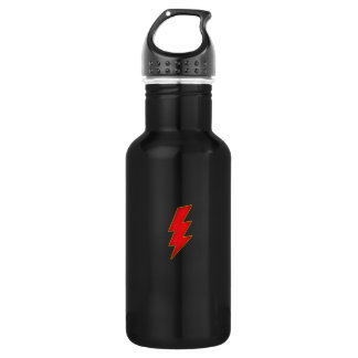 red lightning bolt water bottle
