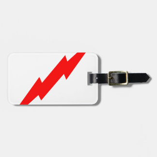 Red Lightning Tag For Luggage