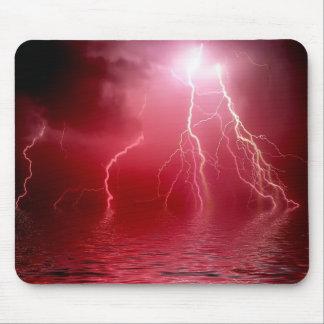 Red Lightning Mousepad