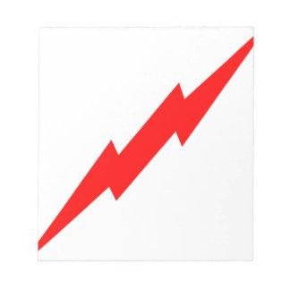 Red Lightning Notepad