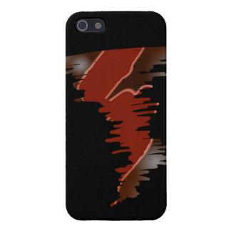 red lightning tornado iPhone SE/5/5s case