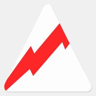 Red Lightning Triangle Sticker