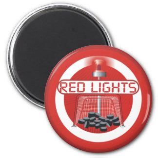 Red Lights 2 Inch Round Magnet